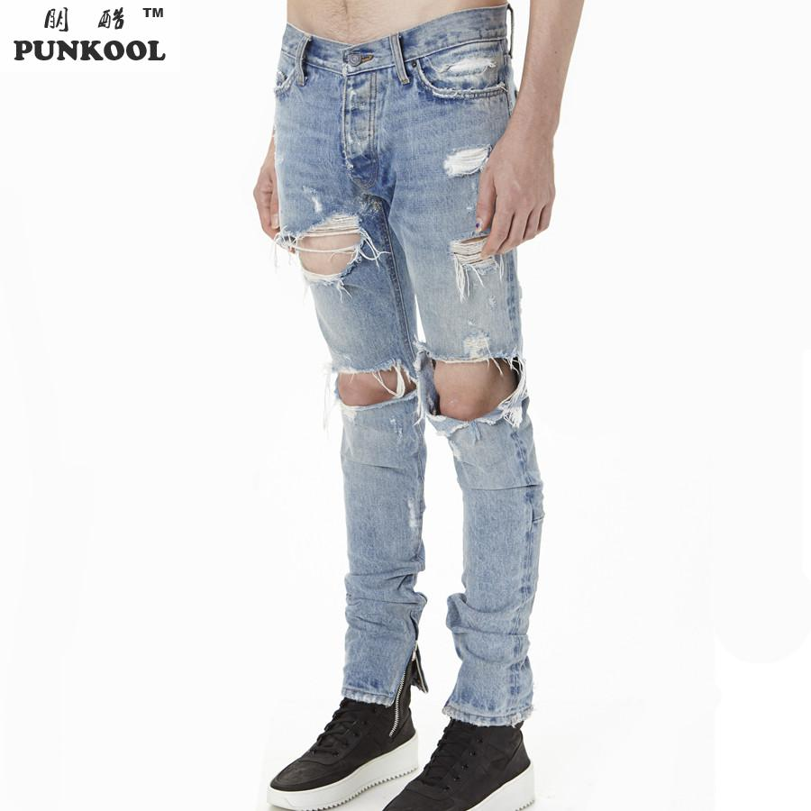 PUNKOOL Kanye West Distressed Jeans Men Rockstar Justin Bieber ...