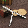 Stainless Steel Practice Training Butterfly Knife Comb Tool Cool   1ORT 2TO8