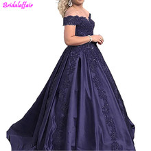 Off The Shoulder Red Lace Prom Dress 2019 Plus Size Lace Ball Gown For Women Elegant Elie Saab Evening Dress plus size off the shoulder flounce lace dress