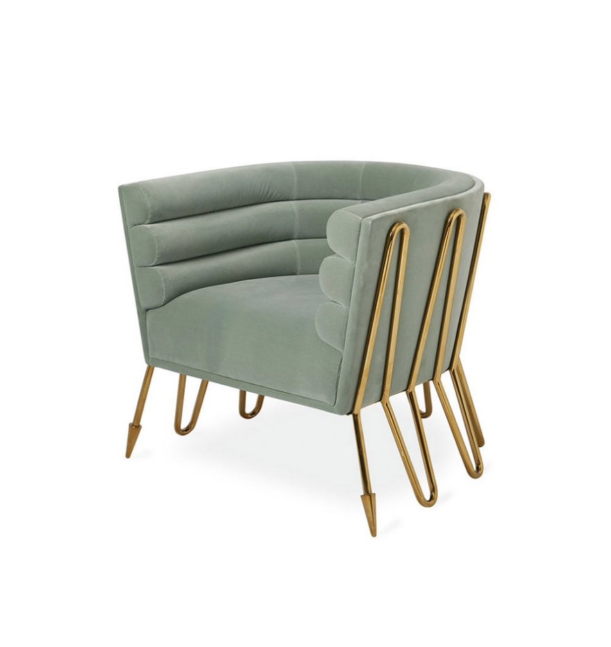 Pleasant Paris Design Lounge Chair With Fabric Upholstered Metal Inzonedesignstudio Interior Chair Design Inzonedesignstudiocom