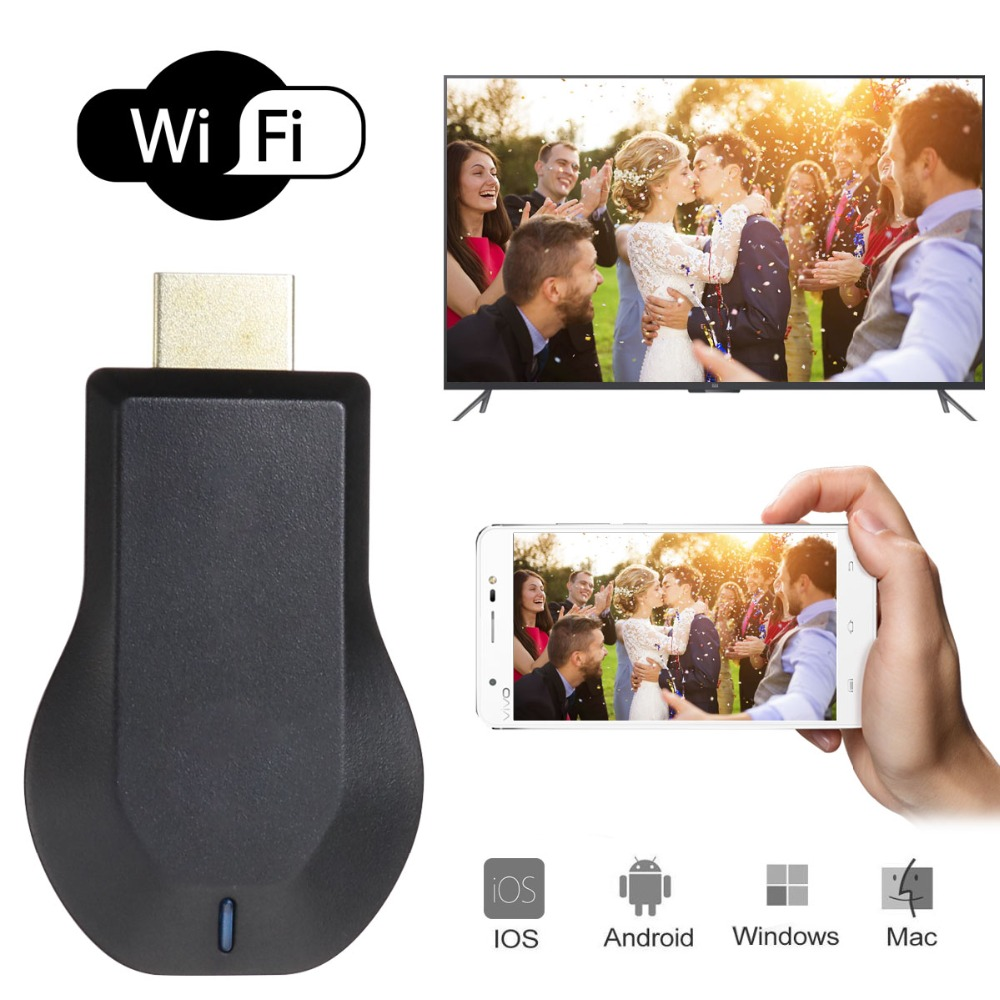 TOP 1 New TV Stick Android Smart Airplay 1080P Wireless WiFi Display TV Dongle Receiver HDMI TV Stick for Smart Phones Tablet PC