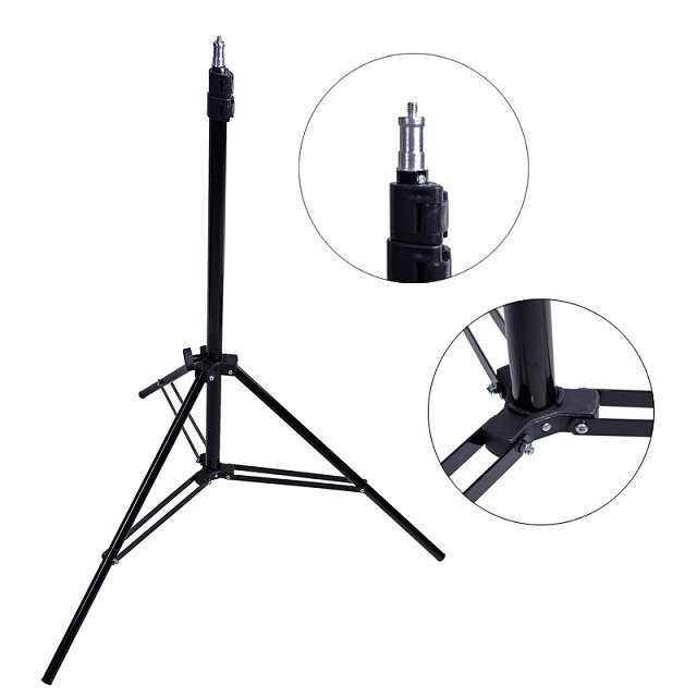 "6'56 ""2 m 200 cm Photo Studio Accessories For Softbox Light Stand Tripod"