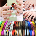 10PCS Mixed Colorful Beauty Rolls Striping Decals Foil Tips Tape Line DIY Design Nail Art Stickers for nail Tools Decorations