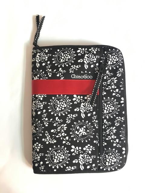 Estojo de agulha para cosméticos, bolsa intercalável com estampa de agulhas para armazenar pincel de maquiagem, tricô e maquiagem, 25.3cm * 15.3cm