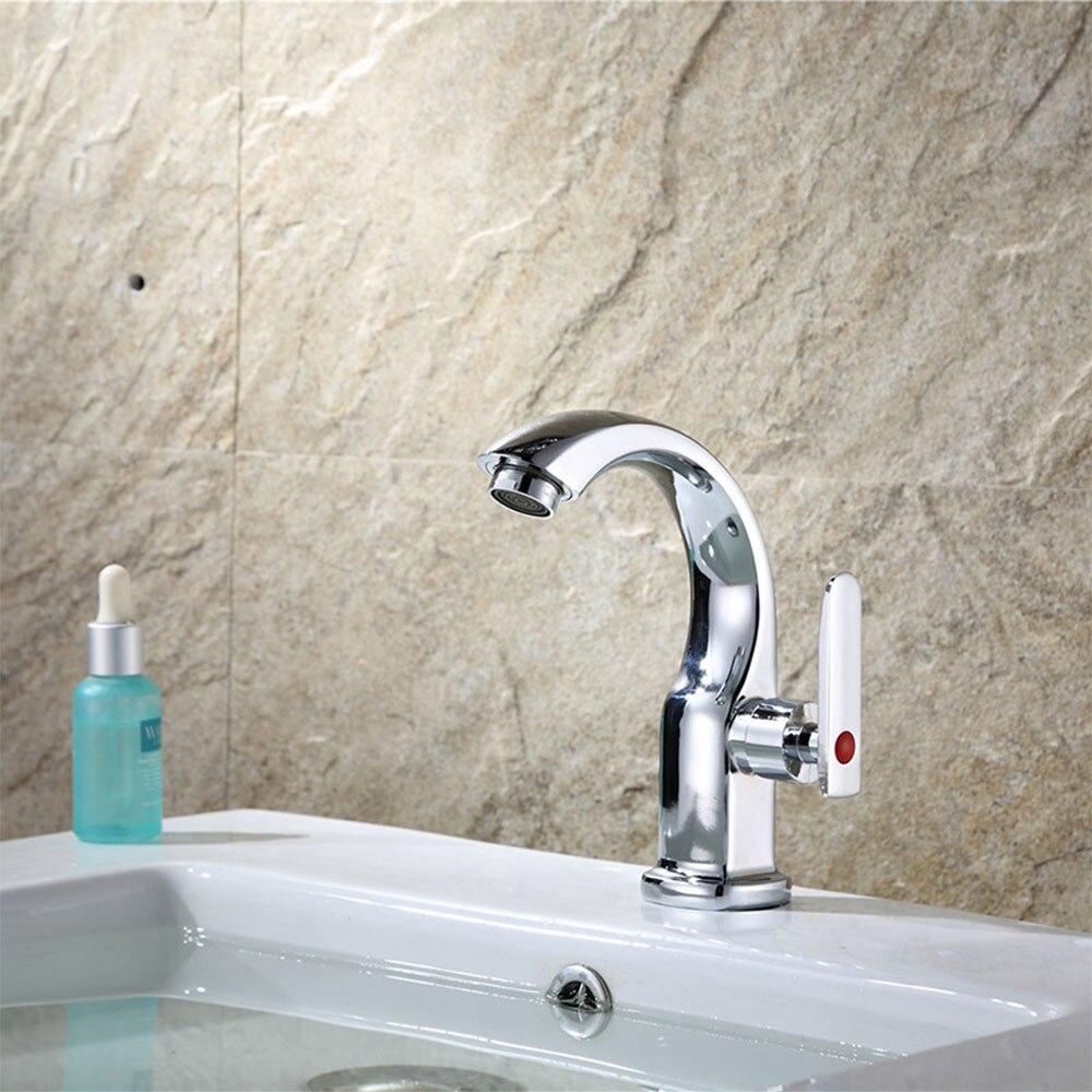 Премиум Ванная комната смеситель холодной душ палубе белый водопад Ванная комната кран хром раковина умывальник кран