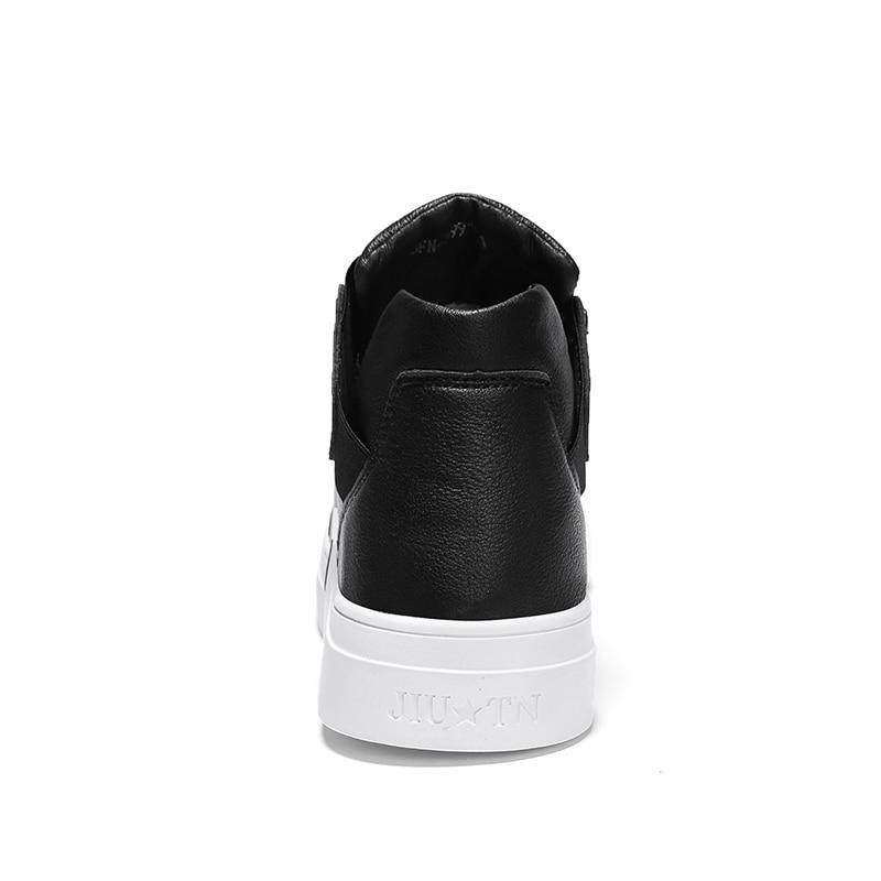 Élastique Automne En Qualité Cuir Haute Bande 2018 black Pour Homass De Pu Mode Black Chaussures Casual Le Printemps Hommes White Mâle Solide wCTIX6q