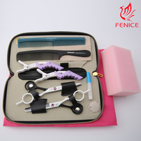 5.5 inch hair cutting thinning scissors Barber scissors shears set Delicate fine Hairdressing scissors shears clippers set