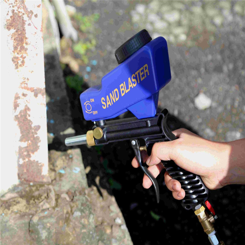 Гравитационная подача портативный пневматический абразивный Пескоструйный пистолет с запасным бластером наконечник ручной Пескоструйны...