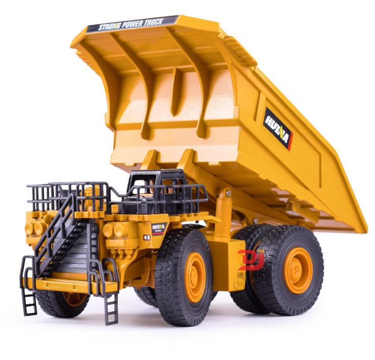 Mine dump truck model,1:40 scale alloy truck model,sliding Engineering vehicle toy, high quality static collection model xq power xq s4020d 20kg torque high quality digital servo for truck dump truck trailer top model cars