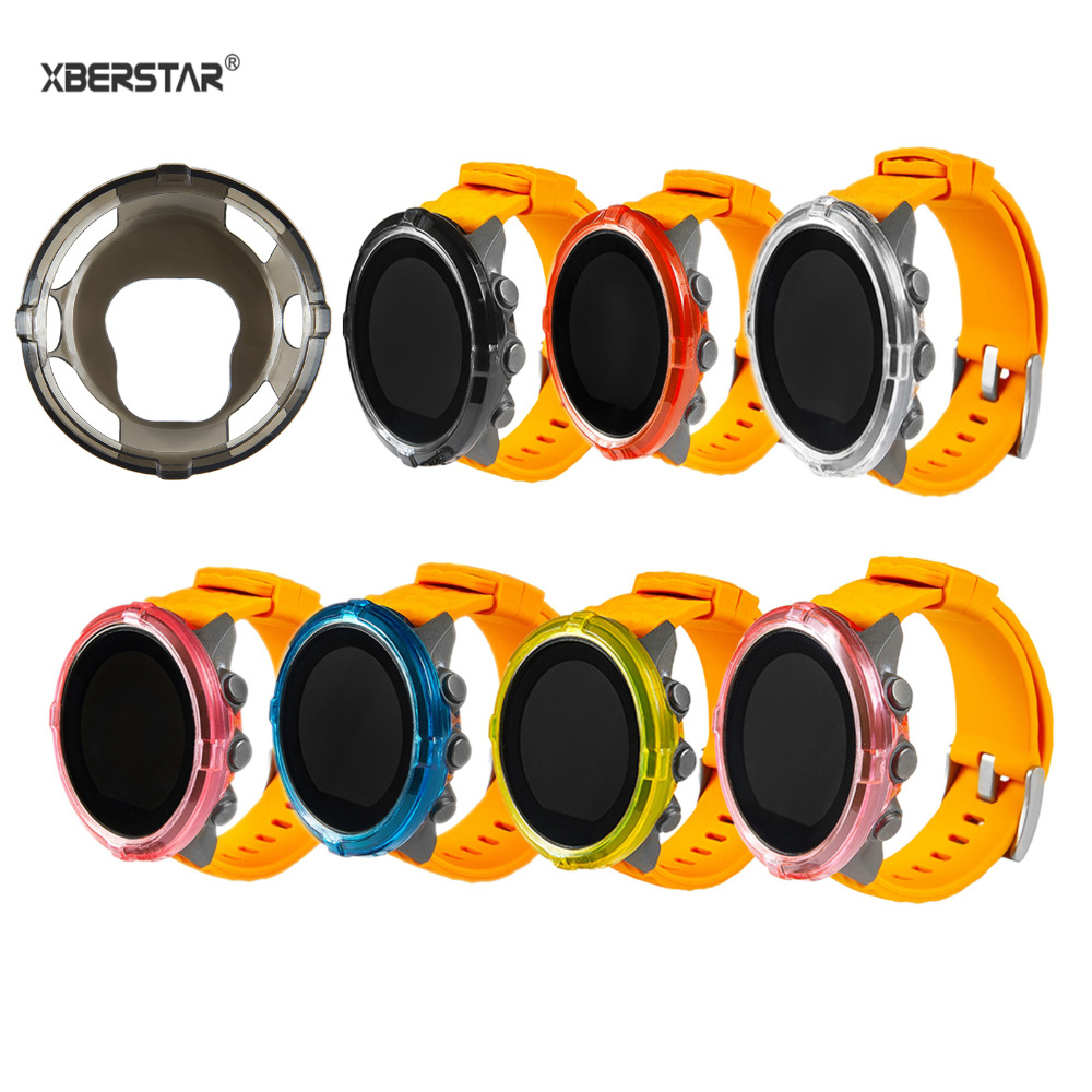 XBERSTAR Protective-Case Cover Smart-Watch Suunto Spartan for Hr Baro Transparent TPU