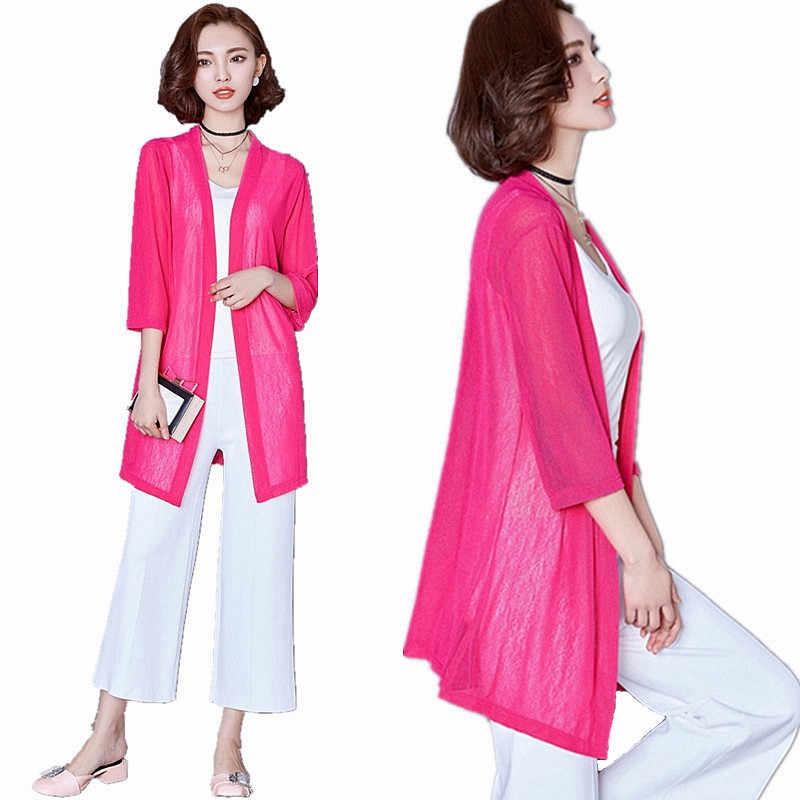 Для женщин летние кимоно кардиган солнце блузка рубашка Топы Boho пляж кружева длинные шифоновые блузки солнцезащитный крем пальто