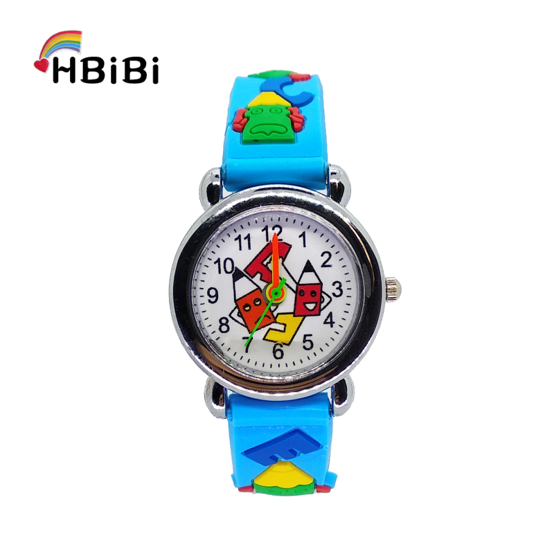 Cartoon Learning Tools Pencil Student Clock Children Watch For Girls Boys Kids Watches Digital Electronic Quartz Wristwatches