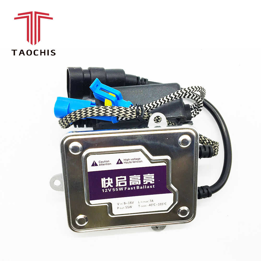 TAOCHIS Car Xenon HID ballast 55W Fast Start Replacement Ignition Blocks Auto Headlight Xenon Light Source Styling Fast Bright