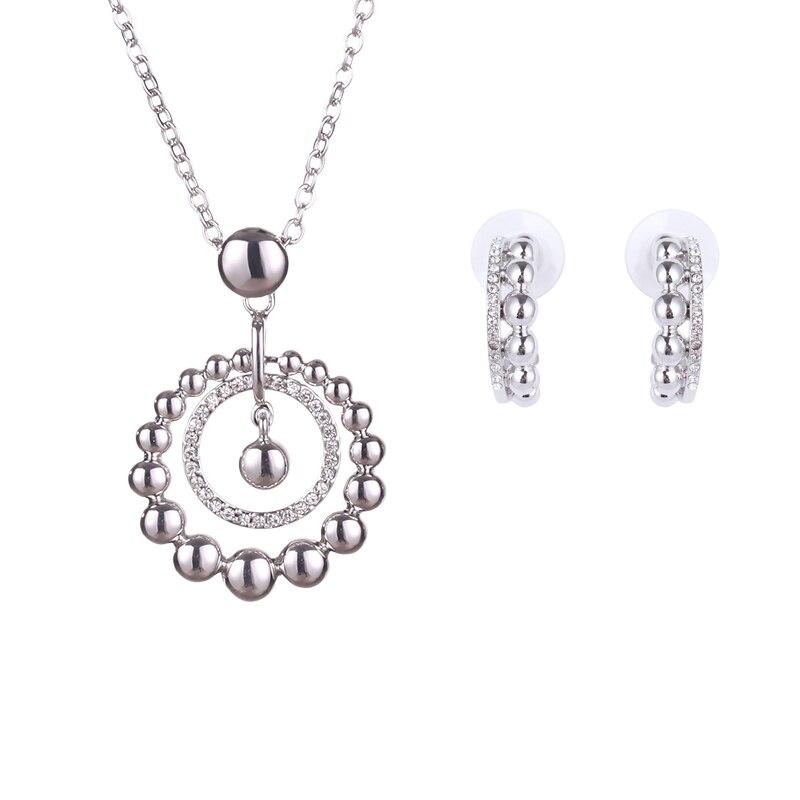 Новый модный вечерний Ювелирные наборы с Цепочки и ожерелья Серьги Лидер продаж австрийских кристаллов белого золота Цвет множество ювели...