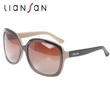 LianSan Vintage Oversized Square Acetate  Polarized Sunglasses Women Men Luxury Brand Designer Plank Plastic Fashion LSP301H