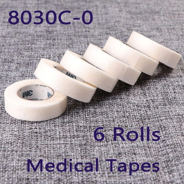 6 Rolls 8030C-0 Surgical Tape Protect Under Eyelash For Eyelash Extension Soft Feeling Professional Tools On the Eye Pad