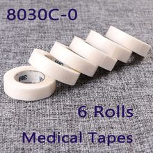 6 Rolls 8030C-0 Surgical Tape Protect Under Eyelash For Eyelash Extension Soft Feeling Professional Tools On the Eye Pad(China)