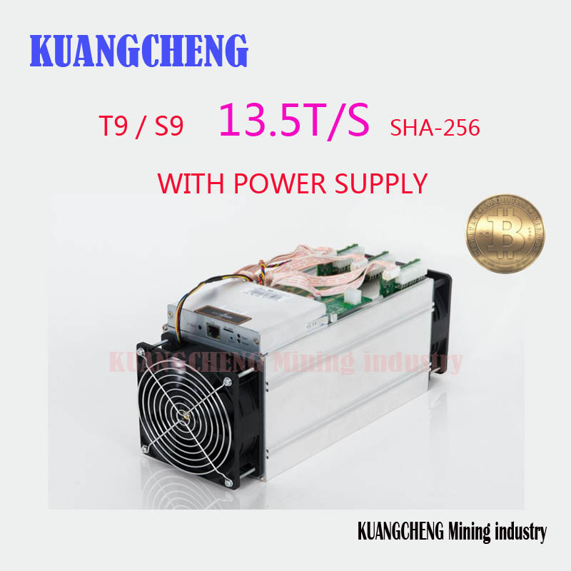 KUANGCHENG Mining industry sell Antminer S9 13.5TH Bitcoin Miner Newest 16nm Asic Miner Btc Miner Better Than Antminer S7