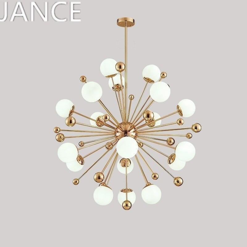 Post-modern chandelier personalized creative dandelion glass ball designer bedroom Nordic lamp living room dining room  100-240V цена и фото