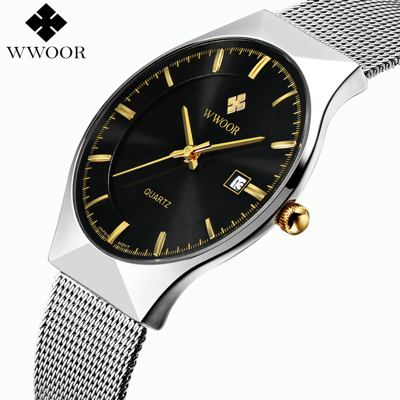 online buy whole thin mens watch from thin mens watch wwoor new top luxury watch men brand men s watches ultra thin stainless steel mesh band quartz