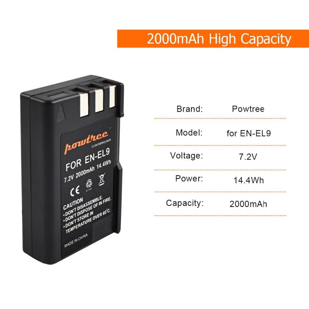 4Packs EN EL9 EN EL9 ENEL9 ENEL9a EN EL9a camera Batteries LCD USB Charger for Nikon EN EL9a D40 D60 D40X D5000 D3000 L15 in Digital Batteries from Consumer Electronics