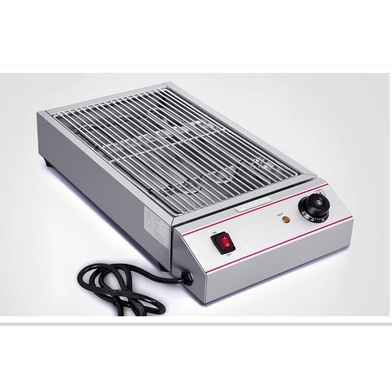 220 V Commercial/maison Barbecue électrique gril four sans huile et sans fumée Barbecue Grill poêle Teppanyaki chauffage rapide