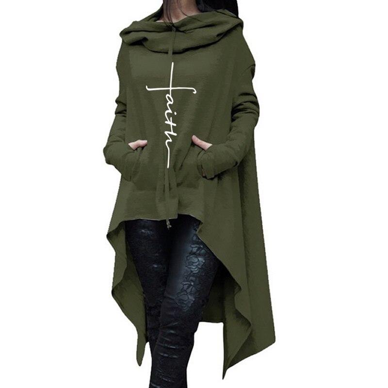 2018 nueva moda fe impresión sudadera mujeres sudaderas con capucha de las mujeres Kawaii Print niñas suelto patrón recortada y sudaderas para