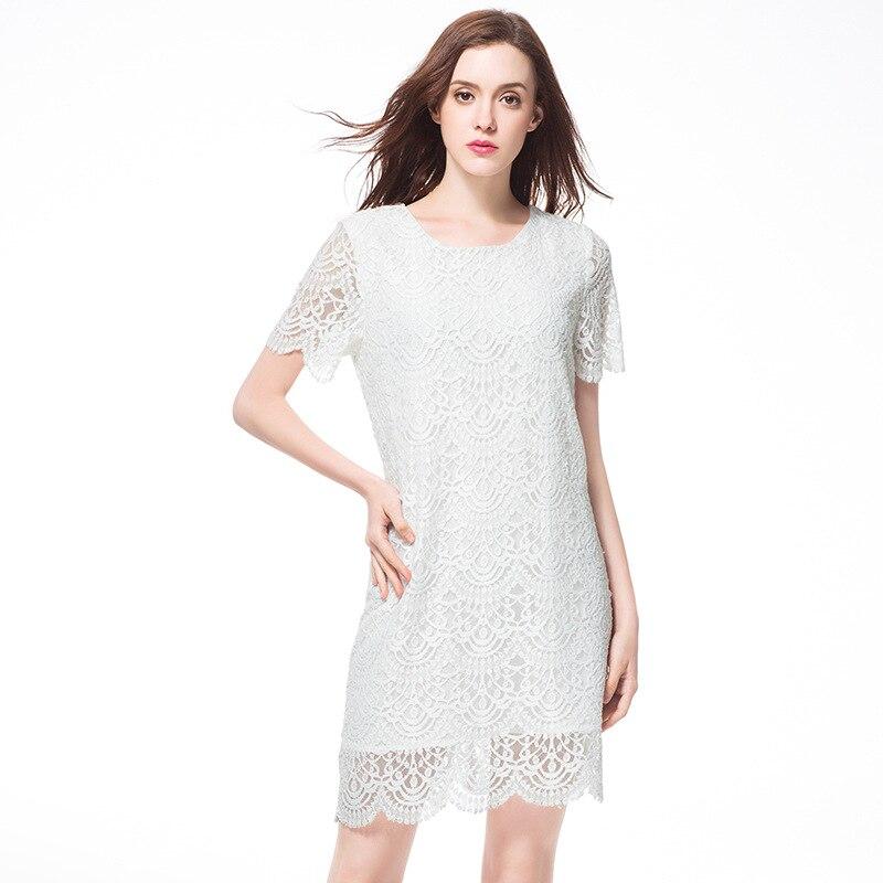 Femmes Taille Mini Robes Sexy Mignon Vintage Bureau La Partie Soirée Robe 2017 D'été Plus Plage 5xl Blanc Élégant L'ukraine qAPInfaEH