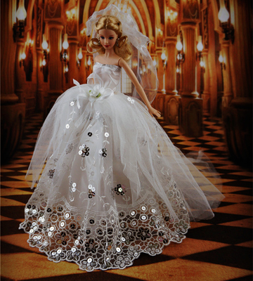Princess sexy party dress gown suit nice wedding lot for Baby doll wedding dress bridal gown