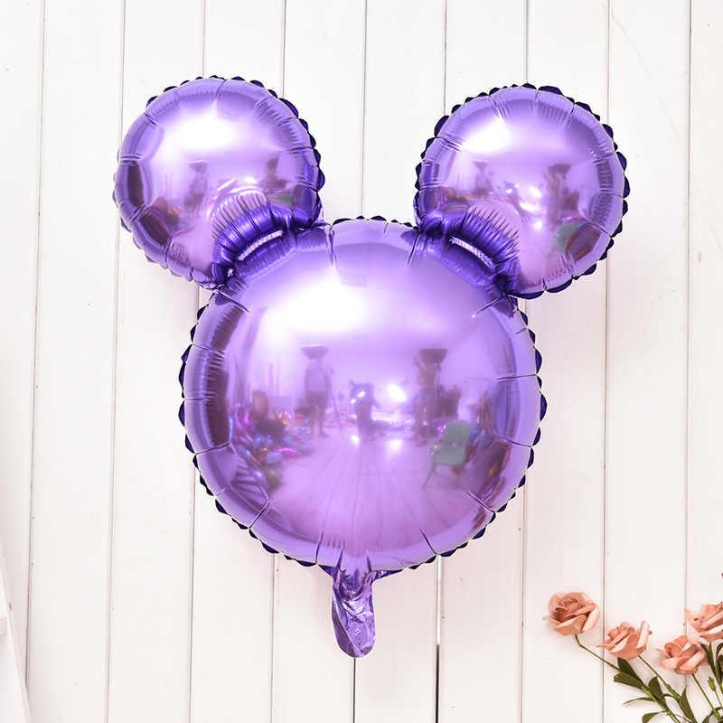 26 インチミッキーヘッド箔風船ベビーシャワー漫画インフレータブルヘリウムバルーン子供のおもちゃハッピーバースデーパーティーの装飾