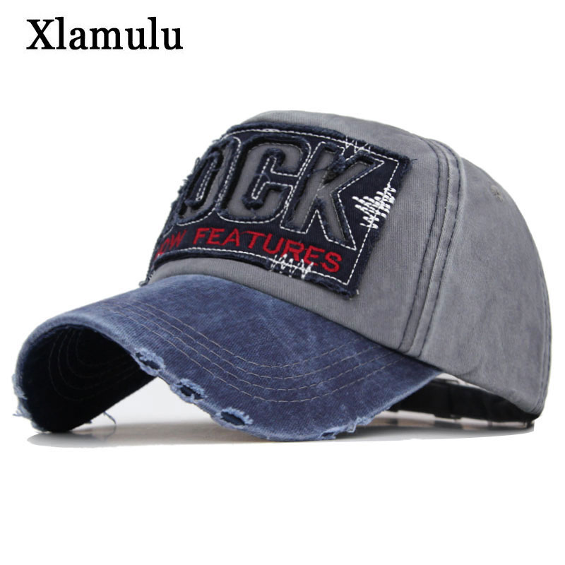 Xlamulu Fashion Brand Men   Baseball     Cap   Snapback Hats For Women Letter Bone Gorras Casquette Washed Cotton Male Dad Hat Men   Cap