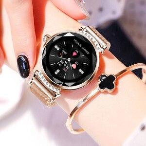 Image 3 - Женские Водонепроницаемые Смарт часы RUNDOING H2, фитнес трекер с пульсометром, модные спортивные Смарт часы для android и IOS