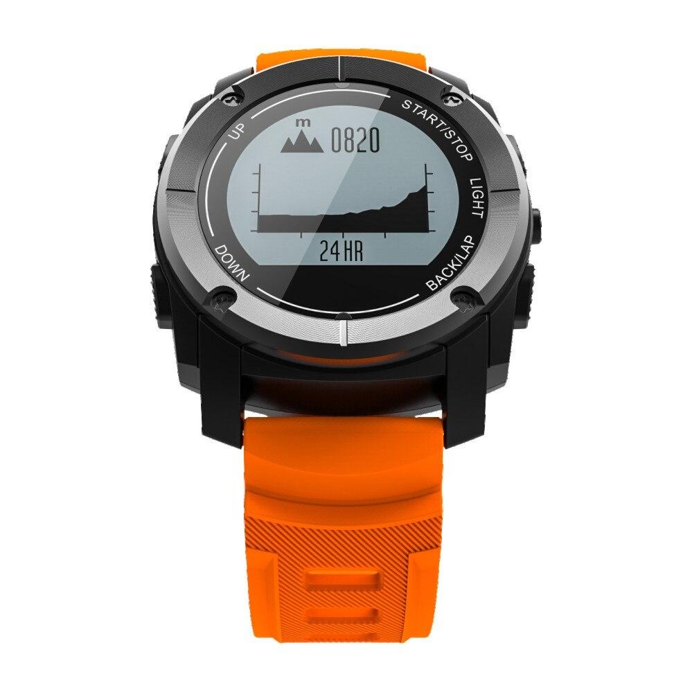 Модные Bluetooth умные часы Открытый gps барометр термометр спортивные часы Apple iphone Android телефон Smartwatch часы