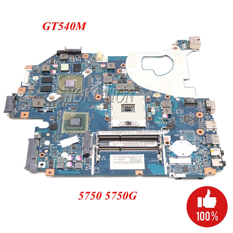 NOKOTION MBRG502001 P5WE0 LA 6901P Laptop Motherboard for Acer aspire 5750 5750G 5755G HM65 2xSO DIMM