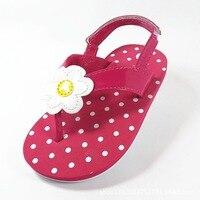 2016 New Fashion Flowers Polka Dot Children Sandals Grils Shoes Baby Flip Flop Slippers Girls Sandals