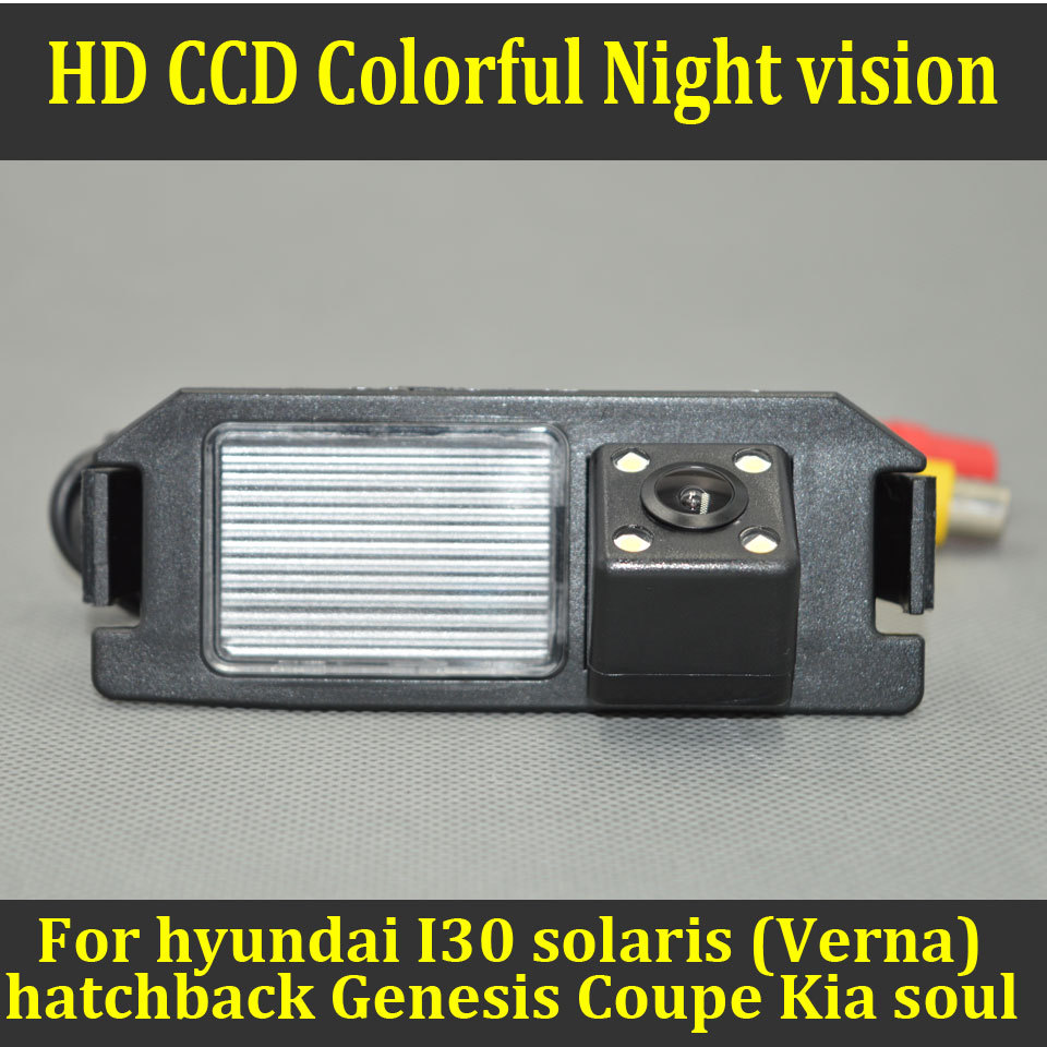 aliexpress com buy hd ccd color night vision car rear view aliexpress com buy hd ccd color night vision car rear view reverse camera for i30 hyundai solaris verna hatchback genesis coupe kia soul from reliable