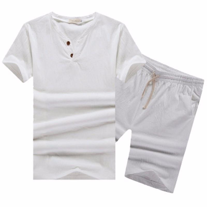 a Linen Suit Sets