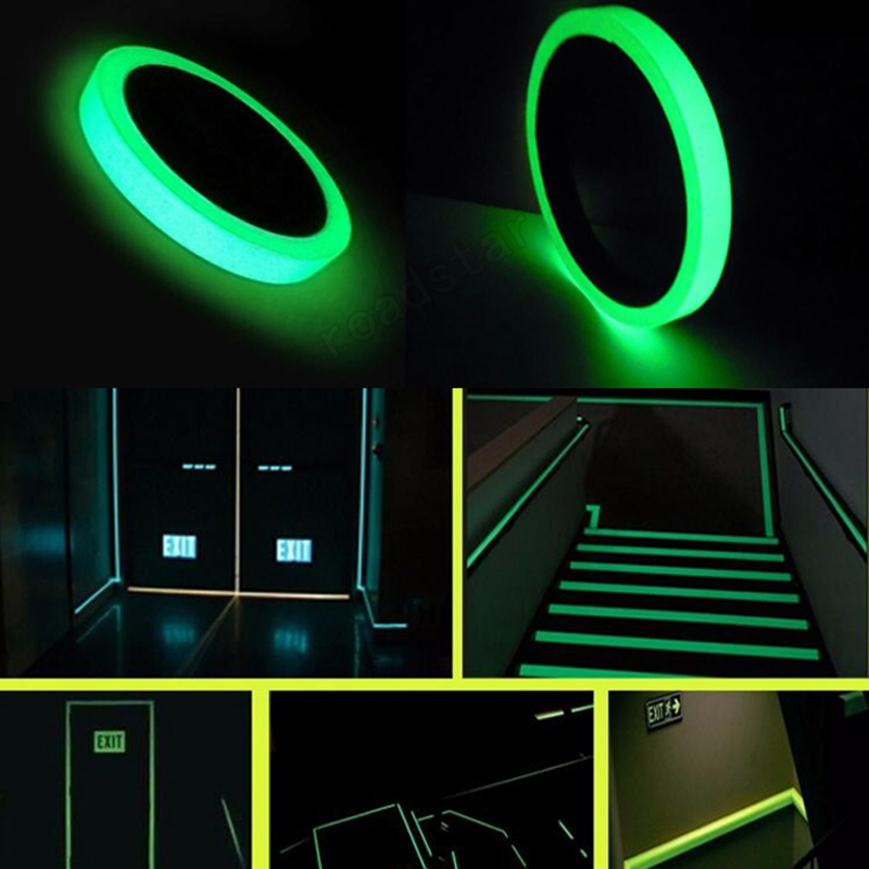 Adhesives & Sealers Imported From Abroad 3m Reflective Glow Tape Removable Luminous Fluorescent Glowing Tape Self-adhesive Sticker Green Tape