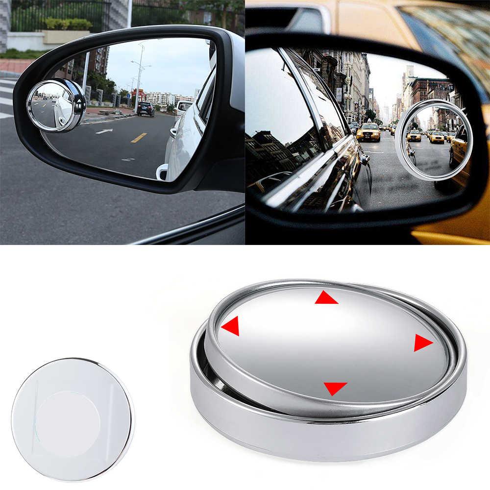 1PC リアビューミラー小さなラウンドミラー自動 360 広角ラウンド凸ミラー車の車両のサイド Blindspot ブラインドスポットミラー
