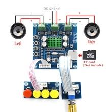 DC 12 V 24 V Bluetooth digital verstärker bord 15 W + 15 W Stereo 2,0 Audio AMP Mit Ton board TF karte Spielen
