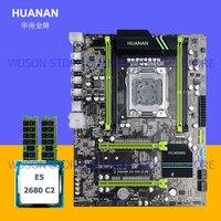HUANAN X79 V2.49 LGA 2011 материнская плата Xeon E5 2680 C2 Процессор Оперативная память (2*4) 8G DDR3 ECC REG 4 канала 2 года гарантии все испытания