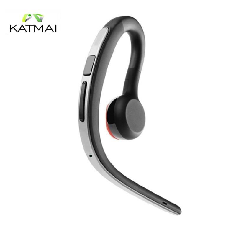 KATMAI Wireless Bluetooth Headphone Handsfree Bussiness Ear Hook Earphone Portable Sport Stereo Earphone For Iphone 7 Xiaomi 2016 new 2 in1 mini portable bluetooth wireless sport headphone usb car charger dock car in ear earphone for iphone 7 6s android