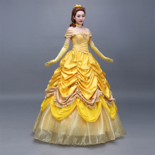 100%real luxury belle princess cartoon ball gown Medieval dress court Renaissance Gown Victori dress Belle ball