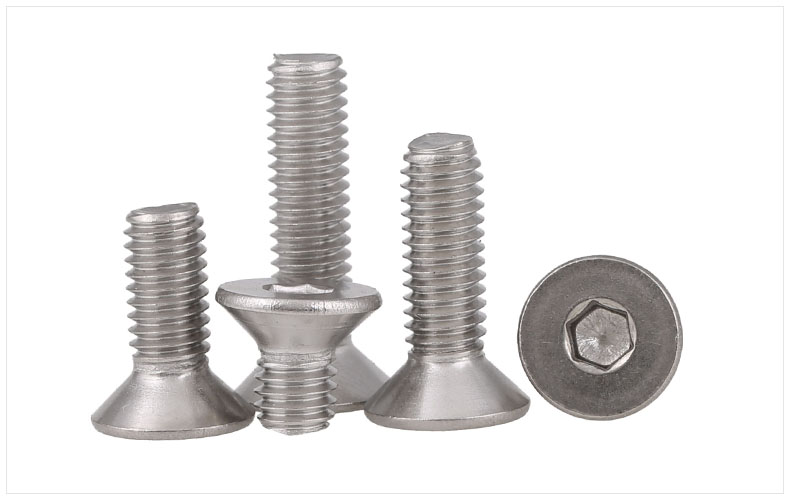 DIN7991 304 stainless steel countersunk head flat head screws Hex socket screws M6 M8 screws bolts m4 din7991 hexagon hex socket countersunk flat head cap screws 304 stainless steel diy home maintain matel working