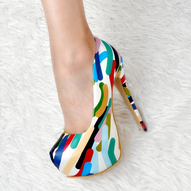 NEW Women High Heel Shoes Wedding Bridal Flower Platform