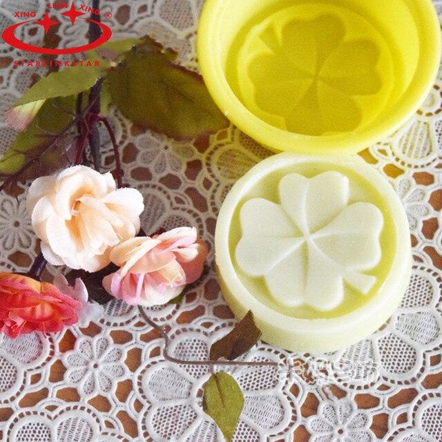 1 pcs Trèfle À Quatre Feuilles Fleur Moule à Cake En Silicone Savon À La Main Moule 3D Savon Moules BRICOLAGE Artisanat Moule Outils De Cuisson