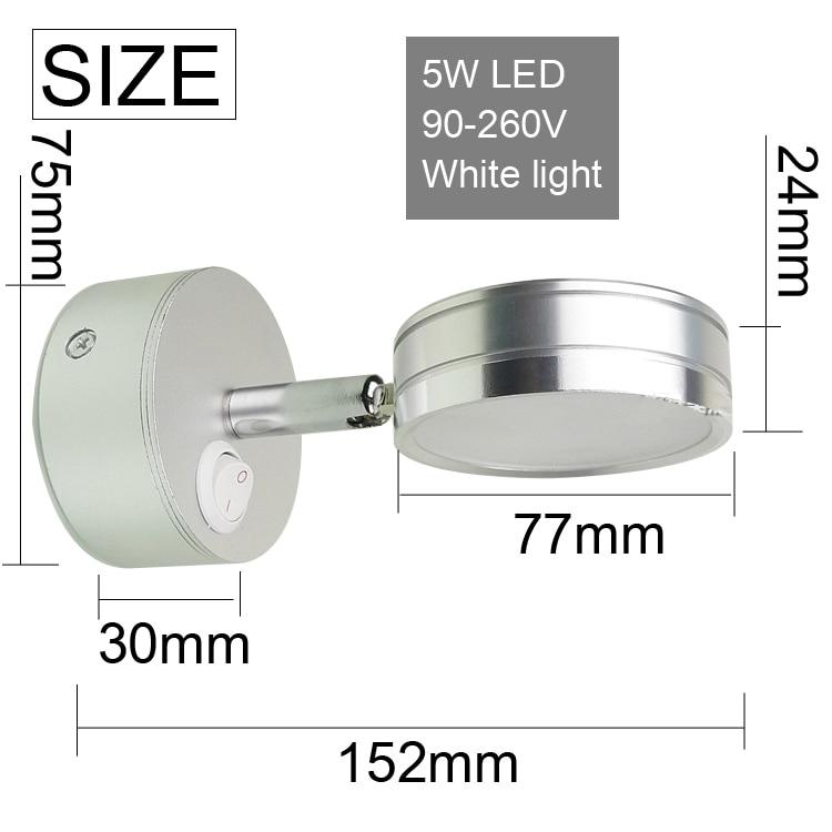Simplicidad moderna Lámparas de pared LED Dormitorio de plata - Iluminación interior - foto 3