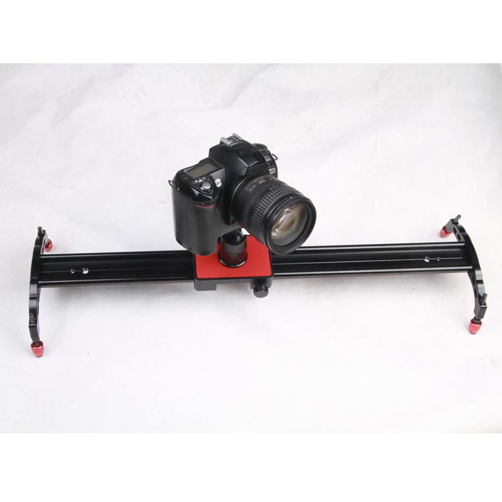 60cm Aluminum Dolly Slider Rail Track for Studio Video DSLR DV Camera with 1/4