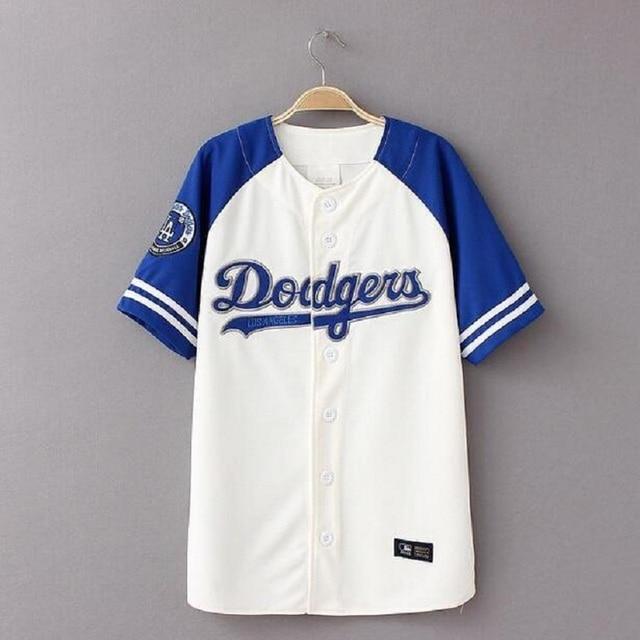 f310e740c9d8a Hip Hop camiseta hombres de las mujeres de Béisbol Streetwear Unisex  Harajuku Punk Béisbol jerseys camisetas