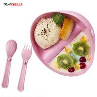 아이 식품 용기 유아 교육 식기 아기 먹이 그릇 독특한 핸들 어린이 식사 식탁 미끄럼 방지 요리 T0603